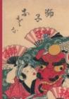 Image for Carnet Blanc, Estampe Danseurs Au Dragon, Japon 19e