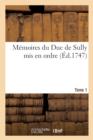 Image for Memoires Du Duc de Sully Tome 1