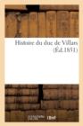 Image for Histoire Du Duc de Villars