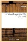 Image for Le Misanthrope, Com die. Edition Classique