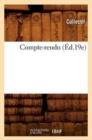 Image for Compte-Rendu (Ed.19e)