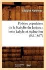 Image for Poesies populaires de la Kabylie du Jurjura : texte kabyle et traduction (Ed.1867)