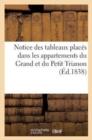 Image for Notice Des Tableaux Places Dans Les Appartemens Du Grand Et Du Petit Trianon