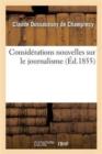 Image for Consid rations Nouvelles Sur Le Journalisme