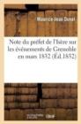 Image for Note Du Pr fet de l'Is re Sur Les  v nemens de Grenoble En Mars 1832
