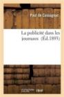 Image for La Publicit� Dans Les Journaux