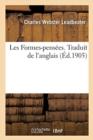 Image for Les Formes-Pensees. Traduit de l'Anglais