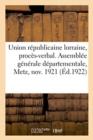 Image for Union Republicaine Lorraine, Proces-Verbal
