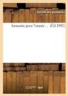 Image for Annuaire Pour l'Annee ... (Ed.1892)
