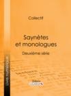 Image for Saynetes Et Monologues: Deuxieme Serie.