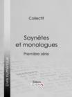 Image for Saynetes Et Monologues: Premiere Serie.