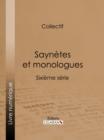 Image for Saynetes Et Monologues: Sixieme Serie.
