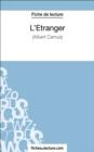 Image for L'Etranger d'Albert Camus (Fiche de lecture): Analyse complete de l'oeuvre