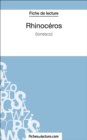 Image for Rhinoceros d'Ionesco (Fiche de lecture): Analyse complete de l'oeuvre