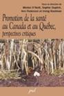Image for La Promotion De La Sante Au Canada Et Au Quebec.