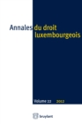 Image for Annales Du Droit Luxembourgeois. Volume 22. 2012.