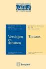 Image for Verslagen&debatten Van Het Comite Voor Studie En Wetgeving/travaux Du Comite D'etudes&de Legislation Anniversaire.