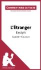 Image for L'Etranger de Camus - Excipit: Commentaire de texte