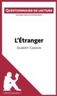 Image for L'Etranger d'Albert Camus: Questionnaire de lecture