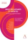 Image for Droit Des Affaires Et Societes: Actualites Et Nouveaux Enjeux (Droit Belge)