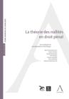 Image for La Theorie Des Nullites En Droit Penal: Et La Jurisprudence Antigone