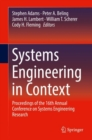 Image for Systems Engineering in Context : Proceedings of the 16th Annual Conference on Systems Engineering Research