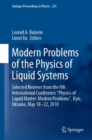 "Image for Modern Problems of the Physics of Liquid Systems : Selected Reviews from the 8th International Conference ""Physics of Liquid Matter: Modern Problems"", Kyiv, Ukraine, May 18-22, 2018"