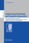 Image for Engineering Psychology and Cognitive Ergonomics : 16th International Conference, EPCE 2019, Held as Part of the 21st HCI International Conference, HCII 2019, Orlando, FL, USA, July 26-31, 2019, Procee