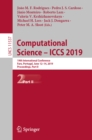 Image for Computational science -- ICCS 2019: 19th International Conference, Faro, Portugal, June 11-14, 2019, proceedings. : 11537