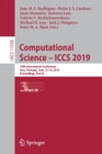 Image for Computational Science - ICCS 2019 : 19th International Conference, Faro, Portugal, June 12-14, 2019, Proceedings, Part III