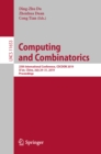 Image for Computing and combinatorics: 25th International Conference, COCOON 2019, Xi'an, China, July 29-31, 2019, Proceedings : 11653