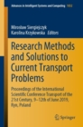 Image for Research Methods and Solutions to Current Transport Problems : Proceedings of the International Scientific Conference Transport of the 21st Century, 9- 12th of June 2019, Ryn, Poland