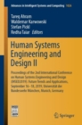 Image for Human Systems Engineering and Design II : Proceedings of the 2nd International Conference on Human Systems Engineering and Design (IHSED2019): Future Trends and Applications, September 16-18, 2019, Un