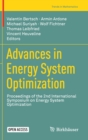 Image for Advances in Energy System Optimization : Proceedings of the 2nd International Symposium on Energy System Optimization
