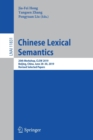 Image for Chinese Lexical Semantics : 20th Workshop, CLSW 2019, Beijing, China, June 28-30, 2019, Revised Selected Papers