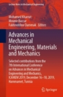 Image for Advances in Mechanical Engineering, Materials and Mechanics : Selected contributions from the 7th International Conference on Advances in Mechanical Engineering and Mechanics, ICAMEM 2019, December 16