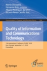 Image for Quality of Information and Communications Technology : 13th International Conference, QUATIC 2020, Faro, Portugal, September 9-11, 2020, Proceedings