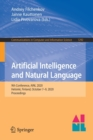 Image for Artificial Intelligence and Natural Language : 9th Conference, AINL 2020, Helsinki, Finland, October 7-9, 2020, Proceedings