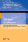 Image for Software Architecture : 14th European Conference, ECSA 2020 Tracks and Workshops, L'Aquila, Italy, September 14-18, 2020, Proceedings
