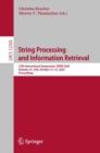 Image for String Processing and Information Retrieval: 27th International Symposium, SPIRE 2020, Orlando, FL, USA, October 13-15, 2020, Proceedings : 12303
