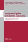 Image for Computer Algebra in Scientific Computing : 22nd International Workshop, CASC 2020, Linz, Austria, September 14-18, 2020, Proceedings