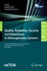 Image for Quality, Reliability, Security and Robustness in Heterogeneous Systems : 16th EAI International Conference, QShine 2020, Virtual Event, November 29-30, 2020, Proceedings