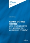 Image for Journee d'etudes egeennes : Actes de la rencontre du 3 novembre 2012 a l'Universite de Geneve