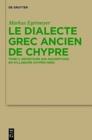 Image for Le dialecte grec ancien de Chypre