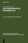 Image for Die Praeparatio Evangelica. Teil 2: Die Bucher XI bis XV. Register : 43/2