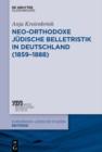 Image for Neo-orthodoxe judische Belletristik in Deutschland (1859-1888) : 29