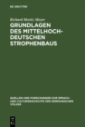 Image for Grundlagen Des Mittelhochdeutschen Strophenbaus : 58