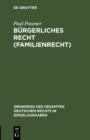 Image for Burgerliches Recht (Familienrecht) : 4