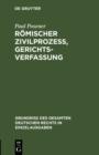 Image for Romischer Zivilprozess, Gerichtsverfassung : 8