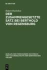 Image for Der zusammengesetzte Satz bei Berthold von Regensburg: Ein Beitrag zur mittelhochdeutschen Syntax : 53